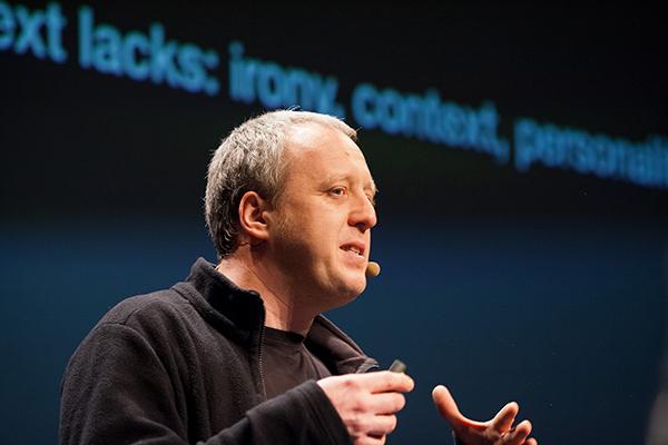 Podcaster Tim Pritlove bei der republica 2014.